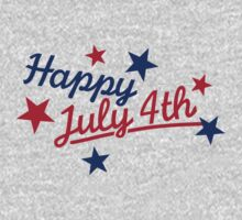 Happy July 4th Independence Day One Piece - Long Sleeve