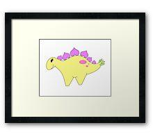 Spring Stegosaurus Framed Print