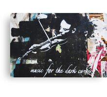 Music For The Dark Corners Canvas Print