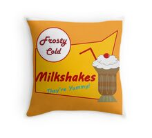 Vintage Milkshake Throw Pillow