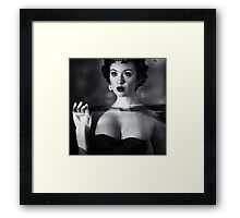 Not drowning, waving Framed Print