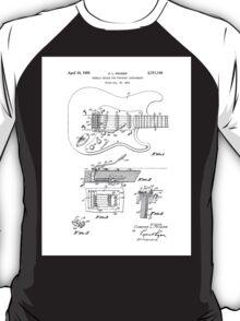 Vintage/Retro Fender Strat/Stratocaster Tremolo Patent Drawing  T-Shirt