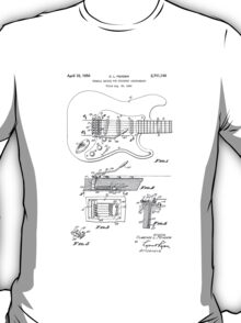 Vintage/Retro Fender Strat/Stratocaster Tremolo Patent Drawing  T-Shirt