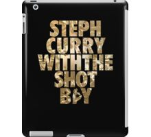 Steph Curry With The Shot Boy Gold iPad Case/Skin