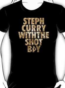 Steph Curry With The Shot Boy Gold T-Shirt