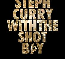 Steph Curry With The Shot Boy Gold by owned
