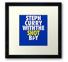 Steph Curry With The Shot Boy Framed Print