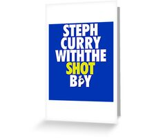 Steph Curry With The Shot Boy Greeting Card