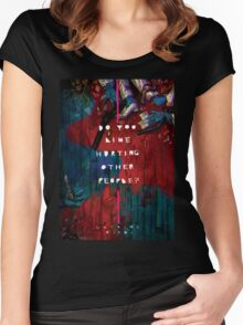 Hotline Miami Artwork Women's Fitted Scoop T-Shirt