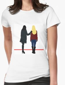 Swan Queen (no text) Womens Fitted T-Shirt