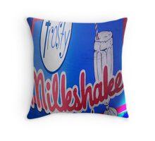 Milkshakes Poster Throw Pillow