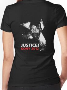 JUSTICE! KONY 2012 Women's Fitted V-Neck T-Shirt