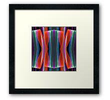 Colourful geometric abstract Framed Print