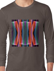 Colourful geometric abstract Long Sleeve T-Shirt