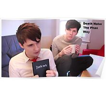 Dan and Phil as Death Note Poster