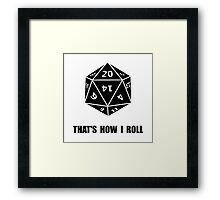20 Sided Dice Roll Framed Print