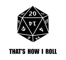 20 Sided Dice Roll Photographic Print