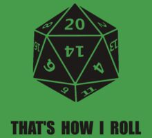 20 Sided Dice Roll Kids Clothes