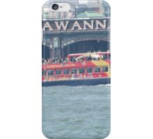 Tourist Ferry Passing the Erie Lackawanna Train and Ferry Terminal, Hoboken, New Jersey      iPhone Case/Skin