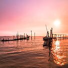 Old dock sunrise by homydesign