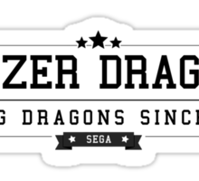 Panzer Dragoon - Retro Black Clean Sticker