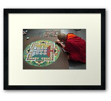 Monk and Mandala Framed Print
