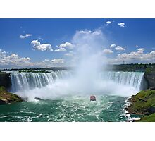 A Tower of Mist Rises from Niagara Falls Photographic Print