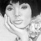 African Queen - Pencil by Susan van Zyl