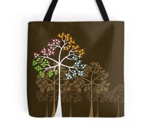 Colorful Four Seasons Trees Tote Bag