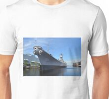 Port Side of the USS Wisconsin Unisex T-Shirt