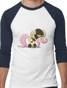 Fluttershy is the D'awwvahkiin (My Little Pony: Friendship is Magic) Men's Baseball ¾ T-Shirt
