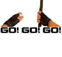 GO! GO! GO! - Counter Strike Knife Tee by iHux