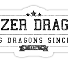 Panzer Dragoon - Retro Black Dirty Sticker