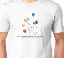 Unicorn in a Balloon Factory Unisex T-Shirt