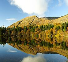 Autumn reflections at Ardgour. by John Cameron