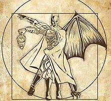 Vitruvian Bats by Samiel