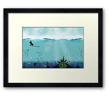 pêche Framed Print