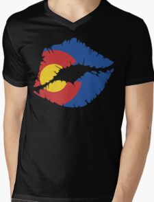 CO Lips Mens V-Neck T-Shirt
