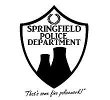 Springfield PD Photographic Print