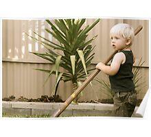 Distracted Gardener Poster