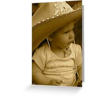 Lil Sheriff  Greeting Card