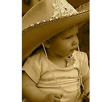 Lil Sheriff  Photographic Print