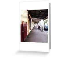 Streetscape Trentham VIC Australia Greeting Card