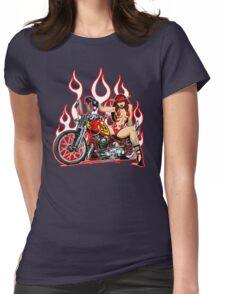 Devil Girl Biker Womens Fitted T-Shirt