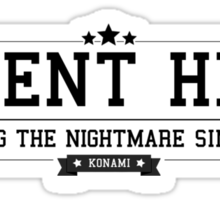 Silent Hill - Retro Black Clean Sticker