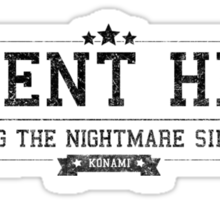Silent Hill - Retro Black Dirty Sticker