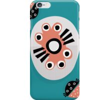 Peachy modern abstract iPhone Case/Skin