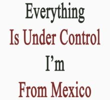 Everything Is Under Control I'm From Mexico  by supernova23