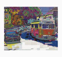 City Scene 1950s by Cliff Wilson