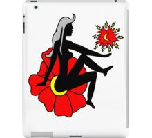 Faerie Silhouette on a Flower iPad Case/Skin